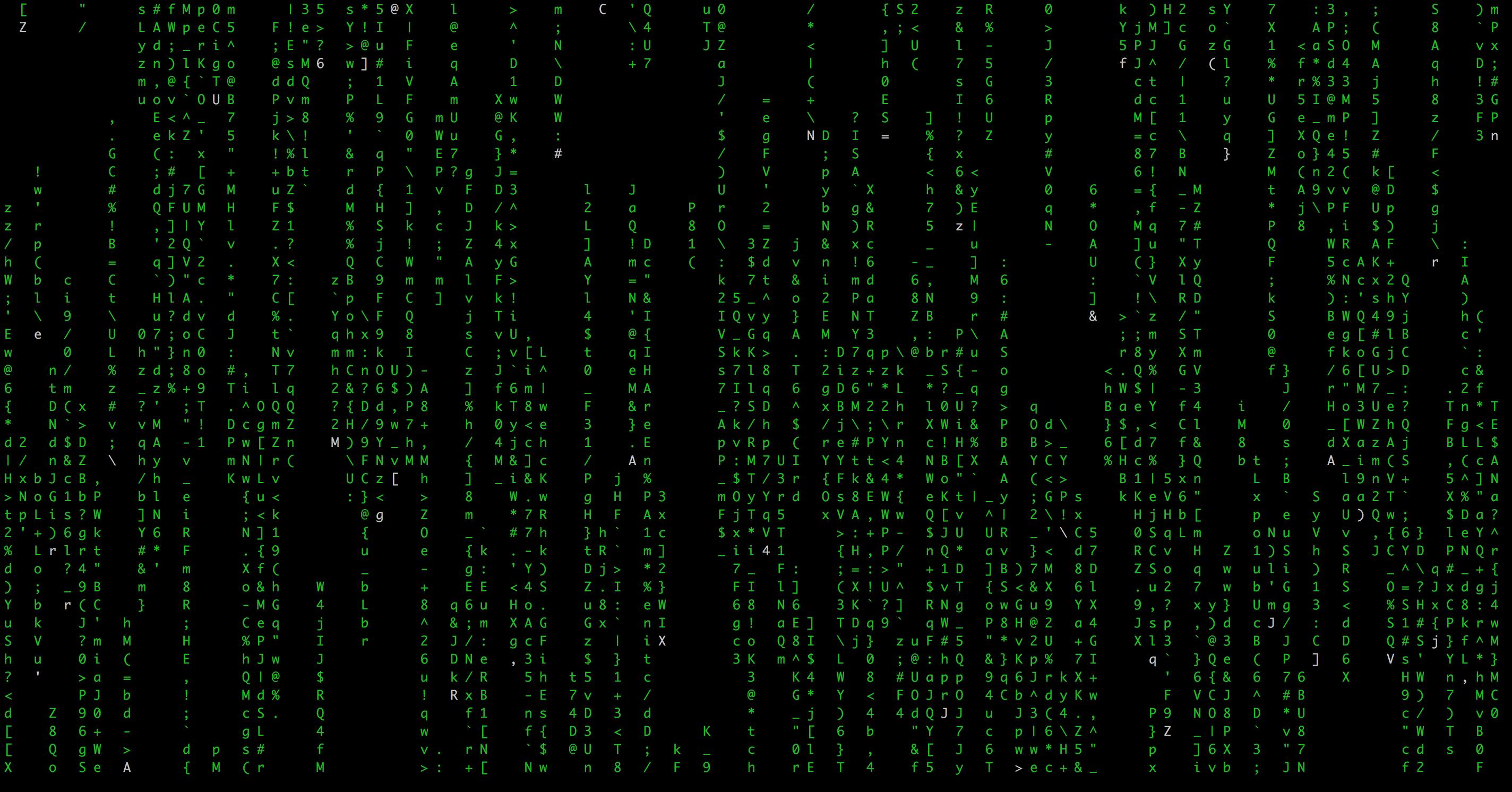 linux黑客帝国数字雨