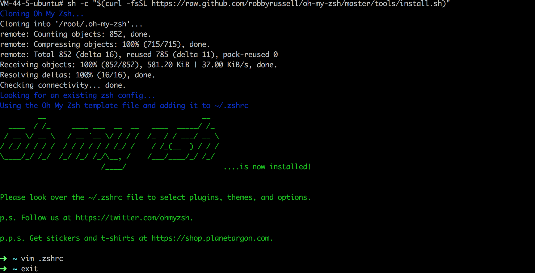 linux更换shell为zsh并个性化配置oh my zsh